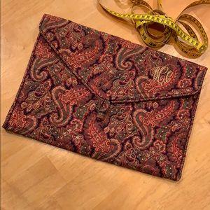 Vera Bradley Envelope Case • Paisley • vintage